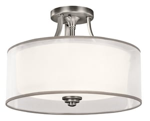 Kichler Lighting Lacey™ 75W 3-Light Medium Semi-Flush Mount Ceiling Fixture KK42386
