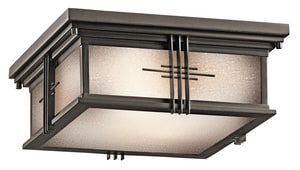 Kichler Lighting 60W 2-Light Outdoor Flush Mount KK49164