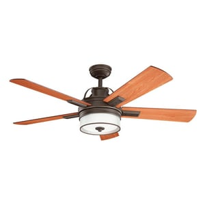 Kichler Lighting Lacey™ 52 in. 5-Blade Ceiling Fan with Light Kit KK300181OZ