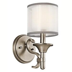 Kichler Lighting Lacey™ 60W 1-Light Candelabra Wall Sconce KK45281