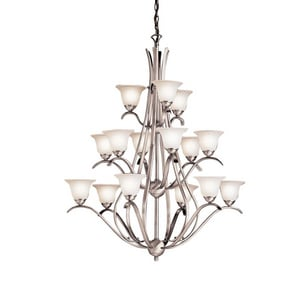 Kichler Lighting Dover 45-1/2 in. 60W 15-Light Candelabra Incandescent Chandelier KK2523