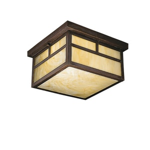 Kichler Lighting 6-1/4 in. 75W 2-Light Medium E-26 Flush Mount Ceiling Light in Canyon View KK9825CV