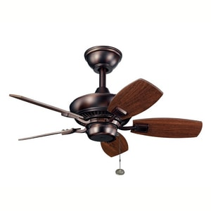 Kichler Lighting Canfield™ 30 in. 5-Blade Walnut Ceiling Fan KK300103OBB