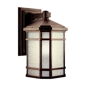 Kichler Lighting Cameron 18W 1-Light Fluorescent Outdoor Wall Lantern in Prairie Rock KK11018PR