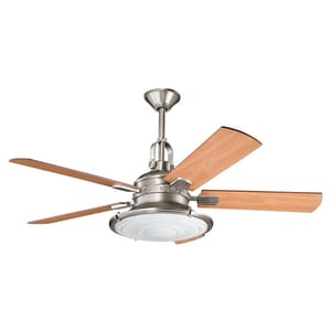 Kichler Lighting Kittery Point™ 52 in. 5-Blade Ceiling Fan with Light Kit KK300020AP