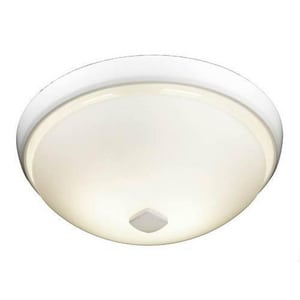 Broan Nutone Decorative Glass Fan/Light, with Fluorescent Light and White Trim N77