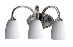 Murray Feiss Industries Perry 100W 3-Light Medium E-26 Base Incandescent Vanity Fixture MVS17403