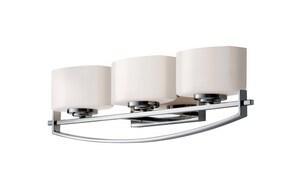 Murray Feiss Industries 6-1/2 in. 75W 3-Light Wall Mount Bi-Pin Bath Light MVS18203