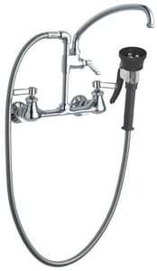 Chicago Faucet Pre-Rinse Fitting Wall Mount Kitchen Faucet with Double Lever Handle C509GCTFABCP