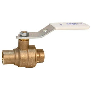 Nibco 600# Solder 2-Piece Bronze and Stainless Steel Full Port Ball Valve with Lever Handle NS68566LF