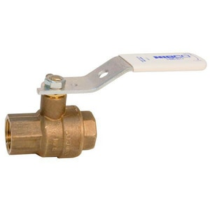 Nibco 2-Piece Bronze and Stainless Steel Threaded Full Port Ball Valve with Lever Handle NT68566LF