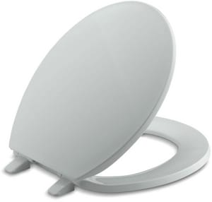 Kohler Brevia Plastic Round Closed Front With Cover Toilet Seat In Ice Grey
