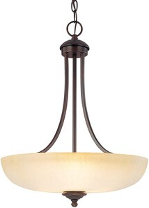Capital Lighting Fixture Chapman 22 in. 100 W 3-Light Medium Pendant C3948BBTW