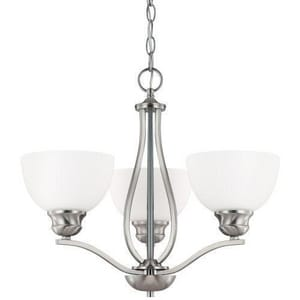 Capital Lighting Fixture Stanton 17 in. 100 W 3-Light Medium Chandelier C4033BN212