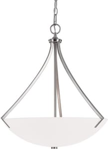 Capital Lighting Fixture Stanton 23 in. 100W 3-Light Pendant Fixture with Mist Scavo Glass Shade C4038