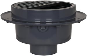 Sioux Chief Fat Max™ Gray PVC Debris Bucket Floor Drain SCH40 Hub S8604PU2