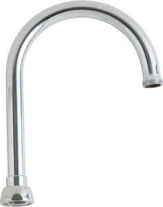 Chicago Faucet 8 in. Gooseneck Spout in Polished Chrome CGN2AH8JKABCP