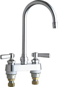Chicago Faucet Ecast® 1.5 gpm 2-Hole Hot and Cold Water Sink Faucet with Double Lever Handle C895GN2AE35AB