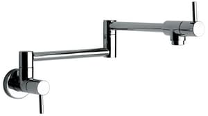 Fortis 1-Hole Wall Mount Pot Filler Faucet with Double Lever Handle in Polished Chrome F7851800PC