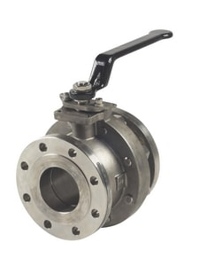 Milwaukee Valve 150 psi Stainless Steel Full Port Flanged Ball Valve MF20SS150F02
