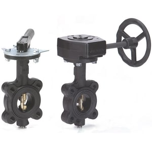 Milwaukee Valve HL Series 200 psi Cast Iron EPDM Lug Butterfly Valve Gear Operator MHL333E