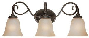 Craftmade International Barrett Place 9 in. 100 W 3-Light Medium Bracket in Mocha Bronze C24203MB