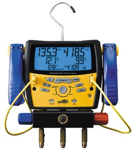 Fieldpiece Instruments Digital Refridgeration Manifold with Pipe Clamp FSMAN3