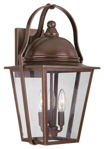Minka Riverdale Court 10-1/2 in. 60 W 3-Light Candelabra Lantern M72302291