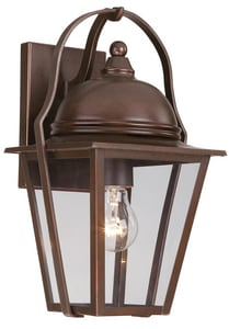 Minka Riverdale Court 14-3/4 in. 100 W 1-Light Medium Lantern in Architectural Bronze M72301291