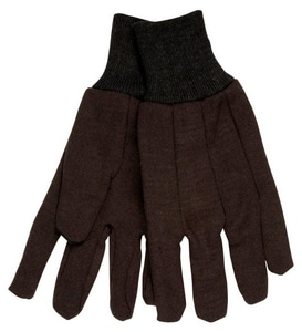 Memphis Glove Men's Wrist Jersey Glove Knit in Brown M7100D