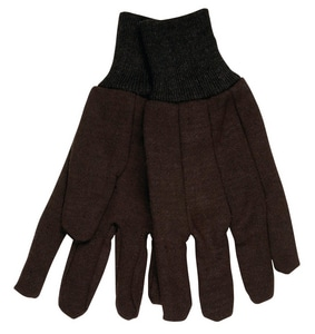 Memphis Glove Small Cotton-Plastic Jersey Glove in Brown MEM7102