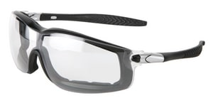 Crews Rattler™ Anti-Fog Black Frame Safety Glasses with Clear Lens CRT110AF