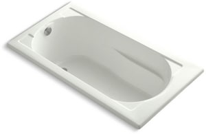 Kohler Devonshire® 60 x 32 in. Acrylic Drop-In Rectangular Bathtub with End Drain K1184