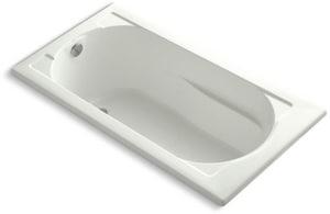 Kohler Devonshire® 60 x 32 in. Acrylic Drop-In Rectangular Bathtub with End Drain K1184