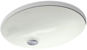 Kohler Caxton 15 X 12 In Undermount Bathroom Sink With Clamp Embly Dune K2209