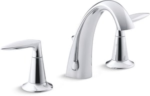 Kohler Alteo™ Widespread Lavatory Faucet with Double Lever Handle K45102-4
