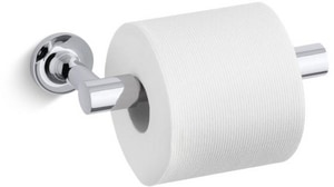 Kohler Purist™ 8-3/16 in. Wall Mount Pivoting Toilet Tissue Holder K14377