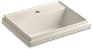 Kohler Tresham™ 1-Hole Rectangle Drop-In Lavatory Sink K2991-1