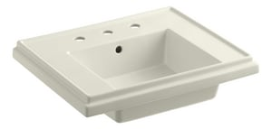 Kohler Tresham® Pedestal Bathroom Sink with 3-Hole Drilled and Overflow K2757-8
