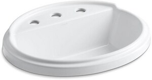 Kohler Tresham® Self-Rimming Oval Lavatory Sink with 8 in. Centerset K2992-8