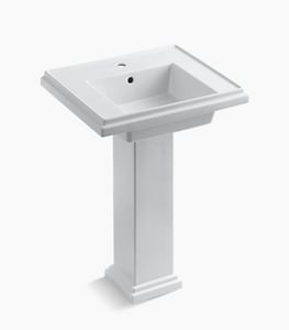Kohler Tresham® 1-Hole Pedestal Bathroom Sink Basin with Overflow Drain K2844-1
