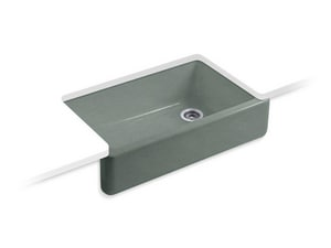 Kohler Whitehaven® 1-Bowl Undermount and Apron Front Kohler Cast Iron Kitchen Sink K6489
