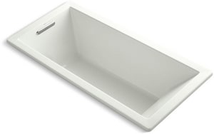 Kohler Underscore® 66 x 32 in. Acrylic Drop-In Rectangular Bathtub with End Drain K1821