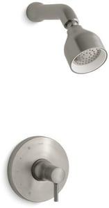 Kohler Toobi® 2 gpm Bath and Shower Trim Kit with Single Lever Handle in Vibrant Brushed Nickel KT8978-4-BN
