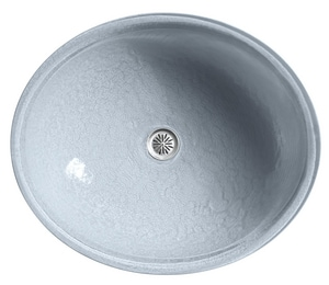 Kohler Whist® 19 x 16-1/8 in. Glass Undermount Bathroom Sink in Dusk K2741-G1