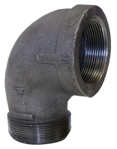 Threaded 150# Street Black Malleable Iron 90 Degree Elbow BS9