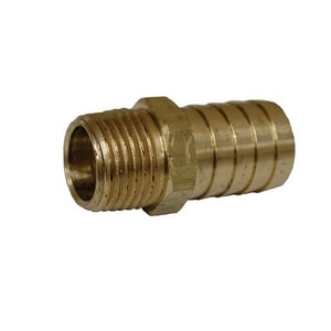 Jones Stephens 3/8 x 3/4 in. Hose Barb x MPT Brass Hose Adapter JG25612