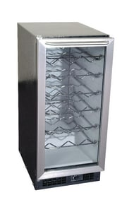 Scotsman Industries 15-32 Bottle Capacity Wine Cooler in Stainless Steel SSCV321SD