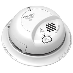 BRK Electronics 9 V Battery Power Smoke & Carbon Monoxide Combination Alarm BSCO2B