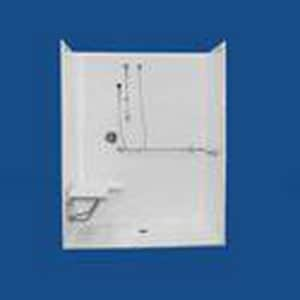 38 x 62 in. Shower with Seat and Towel Bar BL11623634BS